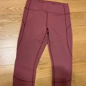 "Lululemon in movement crop 19"" size 10"